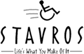 STAVROS logo - Life's What You Make of It